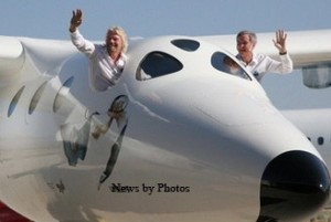 Sir Richard Branson rolls out White Knight Two