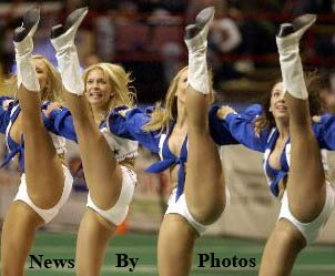 There are no goddamn photos of Lions cheerleaders. But we don't care about context.
