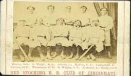 Extremely Rare 1869 Baseball Card the 1869 Peck & Snyder Cincinnati Red Stocking Baseball All-Stars the First Professional Baseball Team