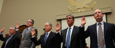 Big Oil 5 CEOs testify in Washington DC