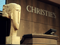 Modigliani sculpture Tete sold at Christies auction in Paris for a record 52 Million dollars