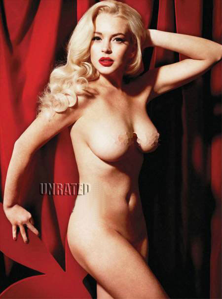lindsay lohan nude photo naked picture LiLo celebrity playboy magazine 2012