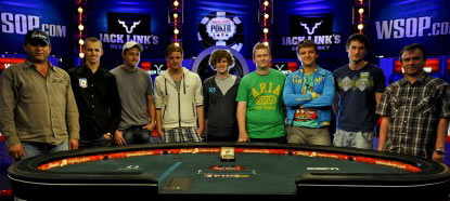 November Nine WSOP main event 2011 final table Pius Heinz Ben Lamb Martin Staszko poker pros