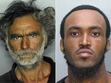Miami cannibal attack picture photo Rudy Eugene deceased and victim Ronald Poppo who lost 70% of his face