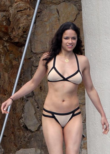 Michelle Rodriguez posing nude black bikini Hôtel du Cap International movie cinema 2012 Cannes Film Festival.