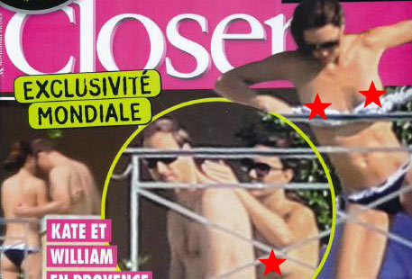 Kate Middleton topless photos Closer magazine France